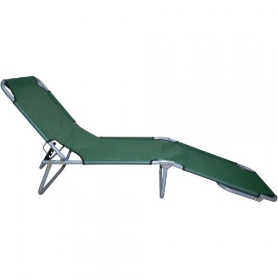 Легло тип шезлонг,Зелено