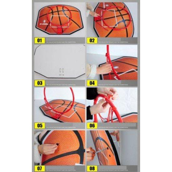 Баскетболно табло с кош, 80х61 см