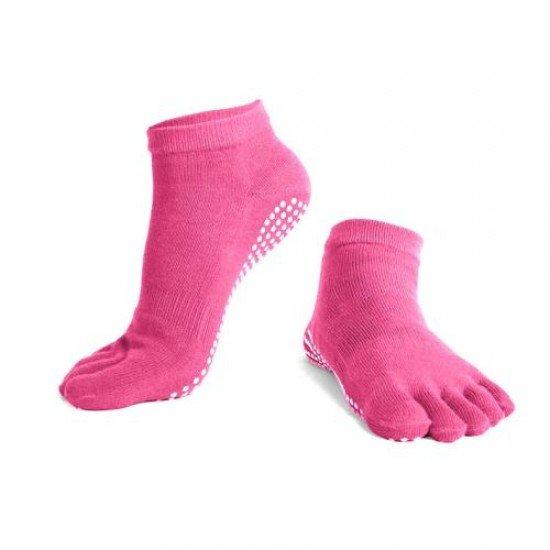Чорапи за йога с пръсти, едноцветни
