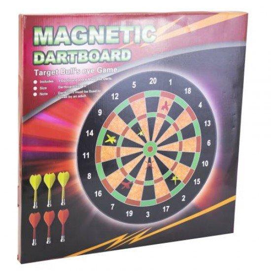 Дартс магнитен 46.3 см, комплект с 6 стрели