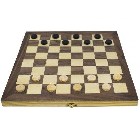 Дървен шах и табла MAXIMA 35 см, Фигури 3,1 - 7 см