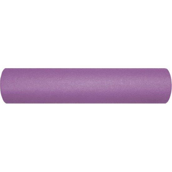 Фоумролер за пилатес и йога с гладка повърхност 45 х Ф12 см - Лилав