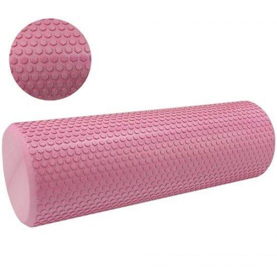 Фоумролер за пилатес и йога с релефна повърхност 45 х Ф15 см - Различни цветове
