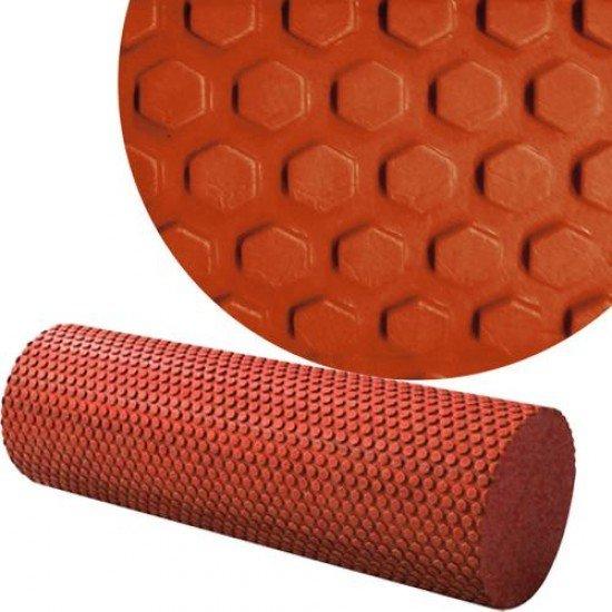 Фоумролер за пилатес и йога с релефна повърхност 46 х Ф14 см - Различни цветове