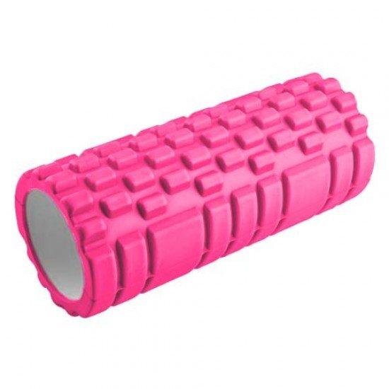 Фоумролер за пилатес и йога с релефна повърхност за масажи, 32,5х13,5х13,5 см