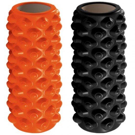 Фоумролер за пилатес и йога с релефна повърхност за масажи, размер 33х14х14см