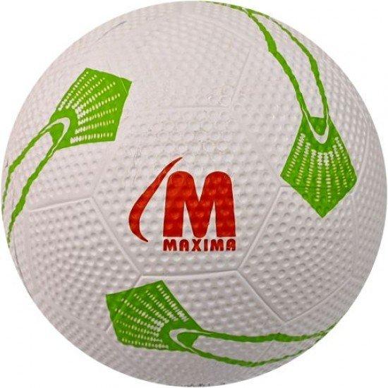Футболна гумена топка MAXIMA, Размер 5 - бяла