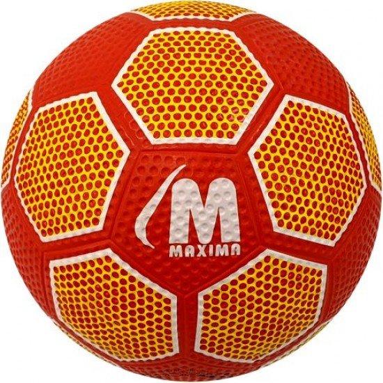 Футболна гумена топка MAXIMA, Размер 5 - червена