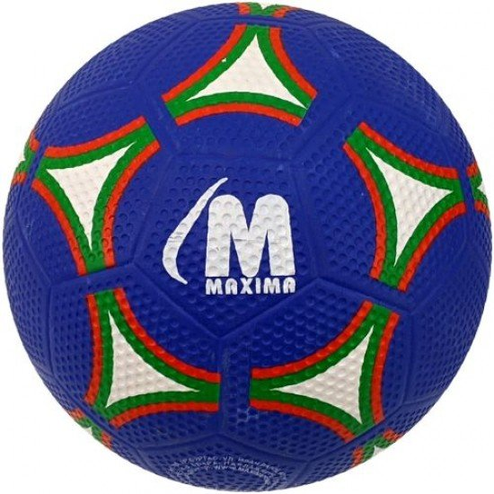 Футболна гумена топка MAXIMA, Размер 5 - синя