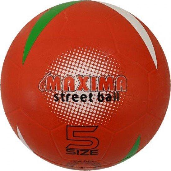 Футболна гумена топка MAXIMA Street, Размер 5 - червена
