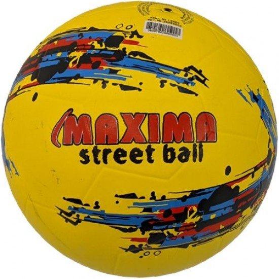 Футболна гумена топка MAXIMA Street, Размер 5 - жълта