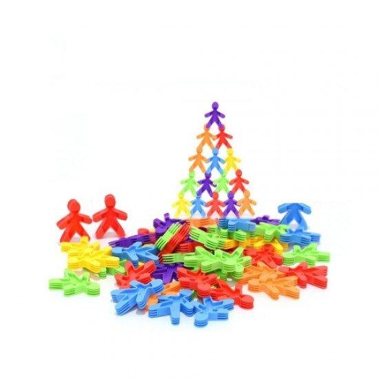 Конструктор елементи с различни цветове 500 грама (в плик)