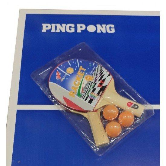 Маса за тенис, Детски комплект с хилки, топчета и мрежа