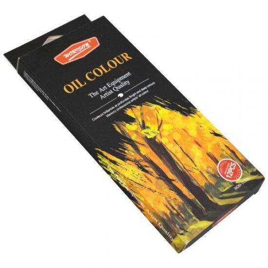 Маслени бои 12 цвята в туби