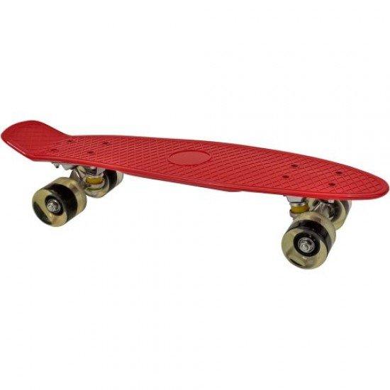 Мини Скейтборд MAXIMA (пениборд) със светещи колела, 56 см
