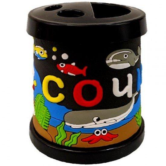 Моливник-чашка за четки в черен цвят, 330 мл