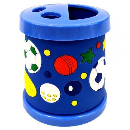 Моливник-чашка за четки в син цвят, 330 мл