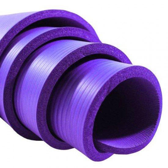 Постелка за гимнастика 183x62x1см, изработена от NBR - Лилав