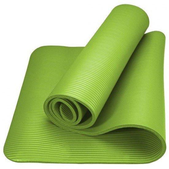 Постелка за гимнастика 175x60x1см, изработена от NBR - Зелен