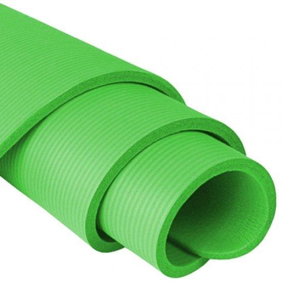 Постелка за гимнастика 181x59x1,4 см, изработена от NBR - Зелена