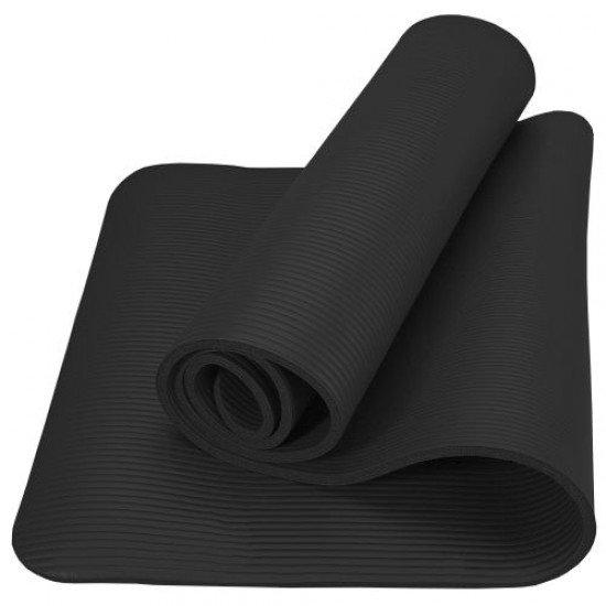 Постелка за гимнастика 182x60x1см, изработена от NBR - Черен