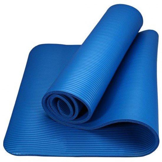 Постелка за гимнастика 182x60x1см, изработена от NBR - Тъмносин