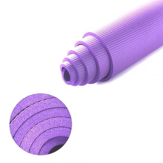 Постелка за гимнастика 183x61x1,4 см, изработена от NBR - Лилава