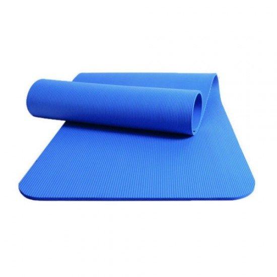 Постелка за гимнастика 184x62x1,3 см, изработена от NBR - Синя