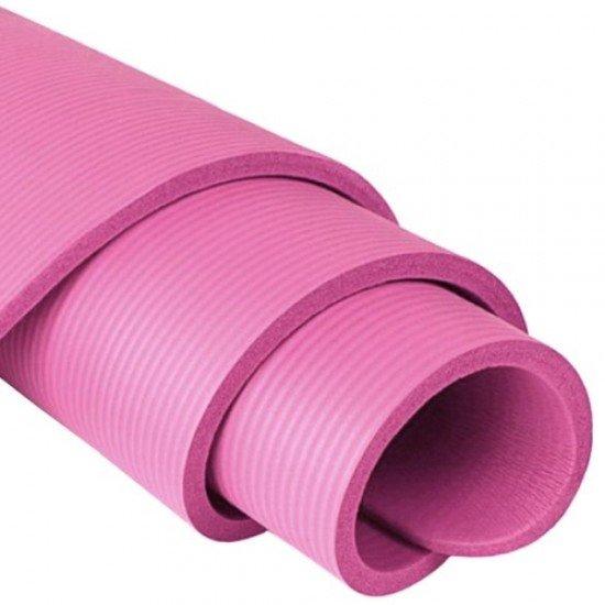 Постелка за гимнастика 185x61x1,6 см, изработена от NBR - Розова