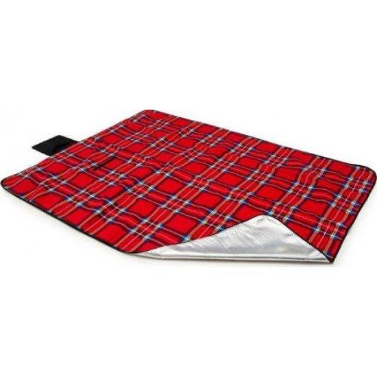 Постелка за пикник, къмпинг MAXIMA, 145х200 см - Червена