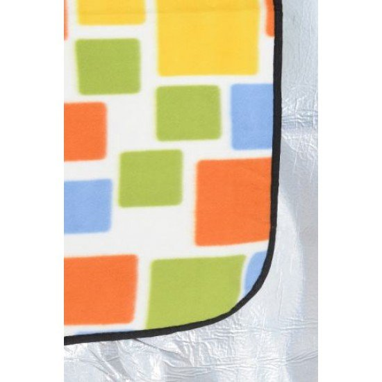 Постелка за пикник, къмпинг MAXIMA, 145х200 см - Жълти Квадрати