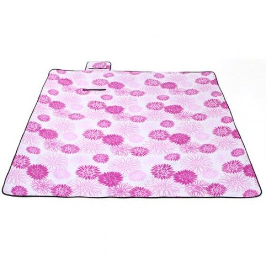 Постелка за пикник, къмпинг MAXIMA, 145х200 см - Розови цветя