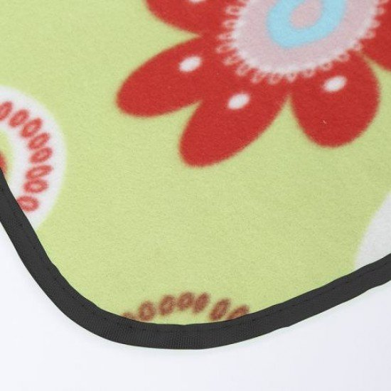 Постелка за пикник, къмпинг MAXIMA, 145х200 см - Зелена с цветя