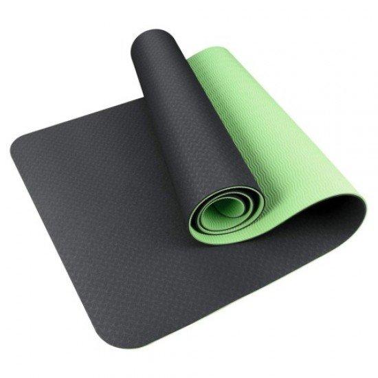 Постелка за йога 183х61,5х0,6 см, изработена от TPE