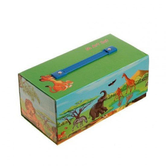 Рисувателен комплект в куфарче с дръжка, 54 части