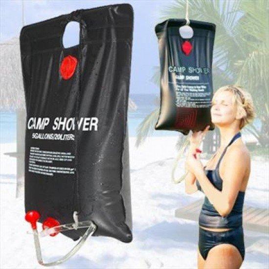Соларен къмпинг душ MAXIMA, С вместимост 20 литра