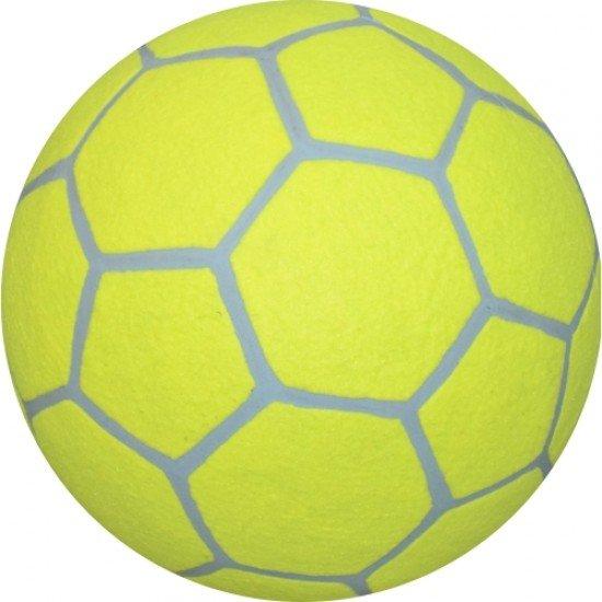Топка футболна мъхеста №5, Гума и текстил