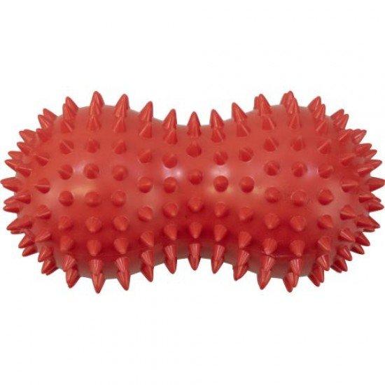 Топка масажна двойна с форма на фъстък, 14х7 см, Плътна