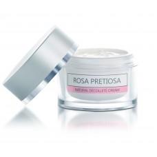 """Натурален подхранващ крем за шия и деколте """"Rosa Pretiosa"""" Natural Cosmetic, 100 мл"""
