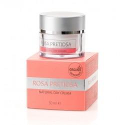 """Натурален подмладяващ дневен крем за лице """"Rosa Pretiosa"""" Natural Cosmetic, 50 мл"""