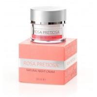 """Натурален подмладяващ нощен крем за лице """"Rosa Pretiosa"""" Natural Cosmetic, 50 мл"""