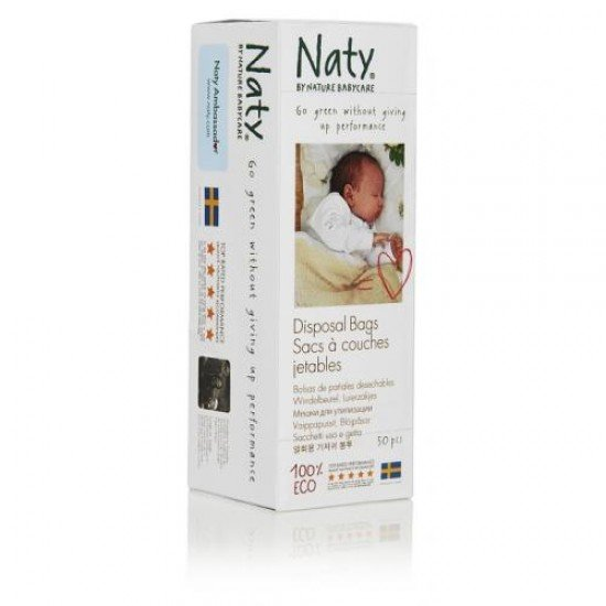 Naty Пликчета за употребявани памперси, 50 броя