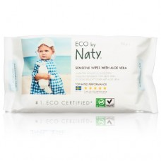 Naty Мокри кърпички Sensitive с Алое вера 56 бр.