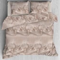 Спален комплект Ранфорс печат спалня голяма - Беж