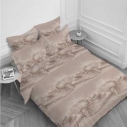 Спален комплект Ранфорс печат макси - Беж