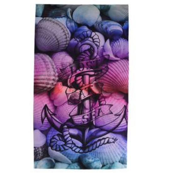 Плажна хавлиена кърпа DF печат - Котва