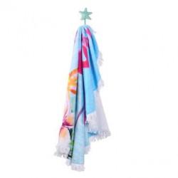 Кръгла плажна кърпа - фламинго