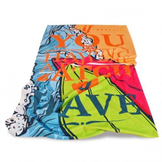 Плажна хавлиена кърпа DF печат - На гребена на вълната