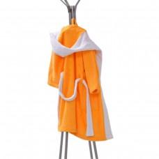 Детски халат за баня S –  Жълт/Бял