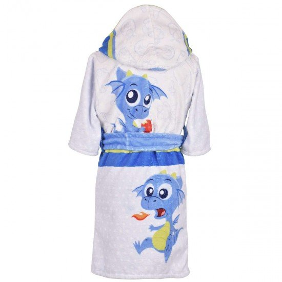 Детски халат за баня DF печат M - Огънче